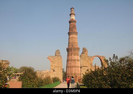 Qutub Minar, Delhi, India - Stock Image