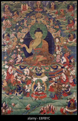 Shakyamuni Buddha. Artist: Tibetan culture - Stock Image