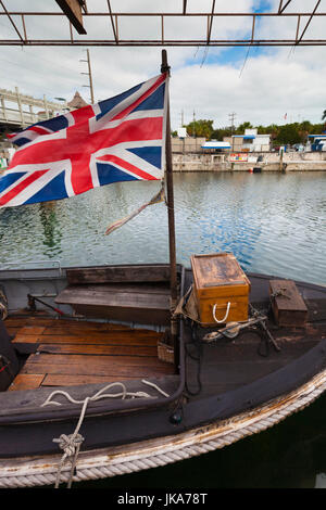 USA, Florida, Florida Keys, Key Largo, The African Queen, original boat used in film starring Humphrey Bogart and - Stock Image