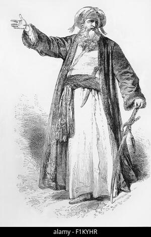 Muhammad (570-632) was an Arab religious, social, and political leader and the founder of Islam. According to Islamic - Stock Image