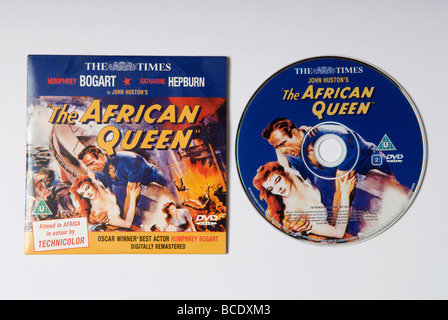 The African Queen DVD given away free with the Daily Times newspaper - Stock Image