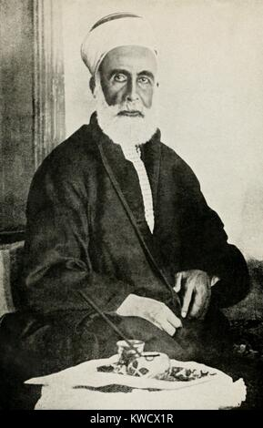 Hussein bin Ali, Sharif of Mecca, was a descendant of the Prophet Muhammad, c. 1915. He was a member of the ancient - Stock Image