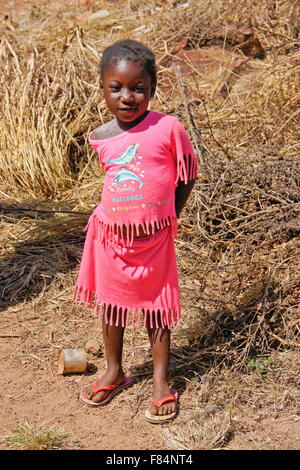 Young girl of Copargo, north Benin - Stock Image