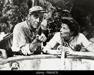 Humphrey Bogart and Katharine Hepburn, 'The African Queen', 1951 United Artists File Reference # 31955_959THA - Stock Image