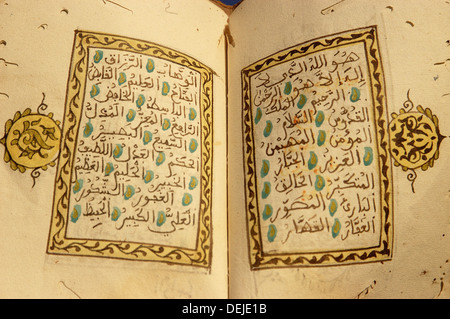 The Prophet Muhammad´s 99 names in the Islam - Stock Image