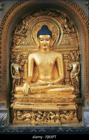 Buddha statue, bodhgaya, bihar, india, asia - Stock Image