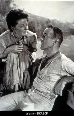 THE AFRICAN QUEEN (1951) KATHARINE HEPBURN, HUMPHREY BOGART TAQ 016 - Stock Image
