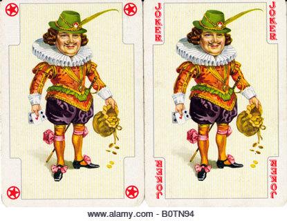 Joker playing card - Stock Image