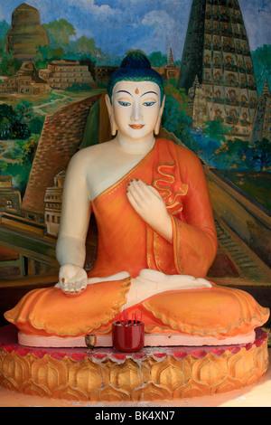 Buddha, Dharmikarama Burmese temple, Penang, Malaysia, Southeast Asia, Asia - Stock Image