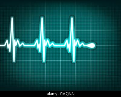 Electrocardiogram track of human heart. EPS 8 - Stock Image