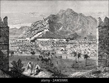 Mount Arafat, Mount of Mercy, Hejaz, Saudi Arabia - Stock Image