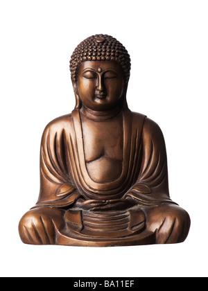 Bronze Buddha statue - Stock Image