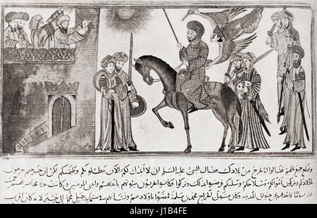 Muḥammad ibn `Abdullāh, c. 570 - 632.  Prophet of Islam. From Hutchinson's History of the Nations, published - Stock Image