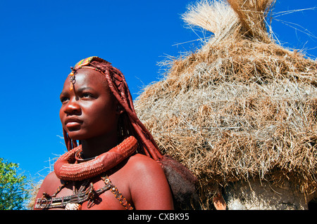 Himba girl, Kaokoveld, Namibia, Africa - Stock Image