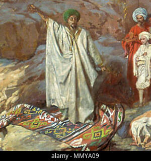 . This Russian painting from 1840-1850 shows prophet Muhammad preaching  Prophet Muhammad preaching. from 1840 until 1850. Grigory Gagarin. This Russian painting from 1840-1850 shows prophet Muhammad preaching - Stock Image