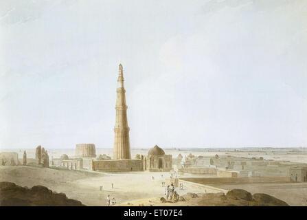 Qutb Minar ; Delhi ; India - Stock Image