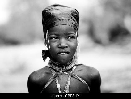 Young Mukubal Girl, Virie Area, Angola - Stock Image