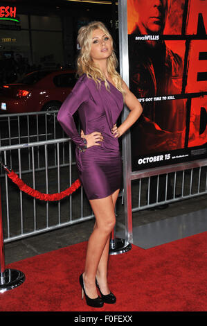 LOS ANGELES, CA - OCTOBER 11, 2010: Aly Michalka at the premiere of 'Red' at Grauman's Chinese Theatre, - Stock Image
