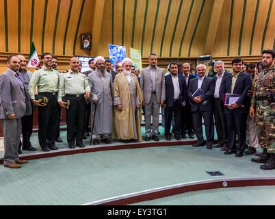 scholars at conference on The Prophet Muhammad in Art, Zahedan University, Iran - Stock Image