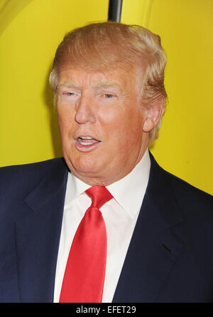 DONALD TRUMP US businessman in January 2015. Photo Jeffrey Mayer - Stock Image