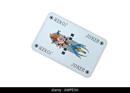 Joker card - Stock Image