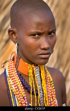 Young girls of the Erbore tribe, Omo River Valley, Ethiopia - Stock Image