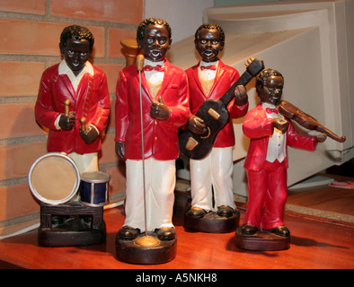 Minstrel group of Happy Musicians - Stock Image