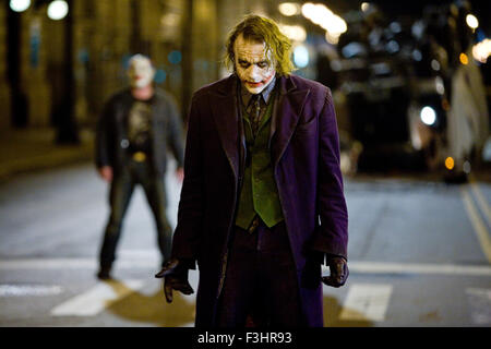 The Dark Knight is a 2008 superhero film directed, produced, and co-written by Christopher Nolan. Based on the DC - Stock Image