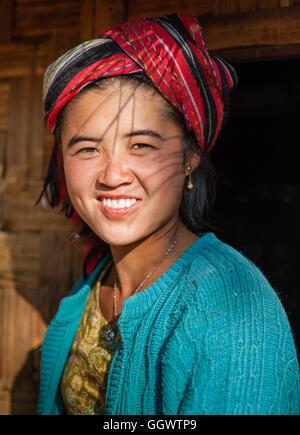 Burmese ethnic girl - Stock Image
