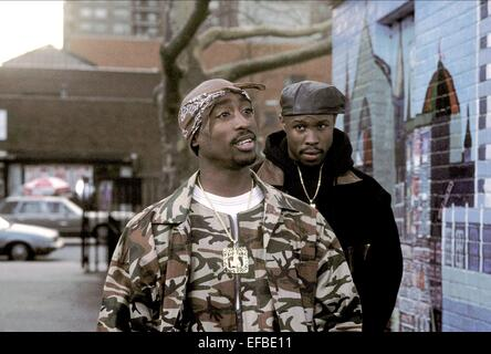 TUPAC SHAKUR & LEON ABOVE THE RIM (1994) - Stock Image