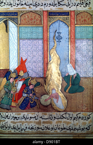 Birth of the Prophet, 16th century ms H1223, Topkapi Palace, Istanbul, Turkey - Stock Image