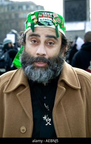 Protest at published cartoons satirising the Prophet Muhammad, London, England, United Kingdom - Stock Image
