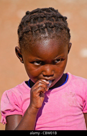 Young Herero girl, Damaraland, Namibia - Stock Image