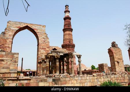 Qutub Minar, New Delhi, India - Stock Image