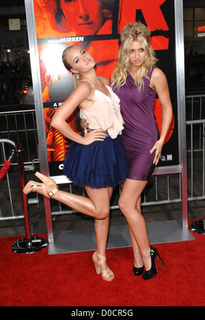 Alyson Michalka, Amanda Michalka Special screening of Summit Entertainment's 'RED' held at The Grauman's - Stock Image