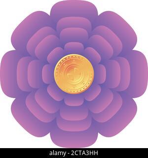 chinese decorative flower on white background vector illustration design - Stock Vector