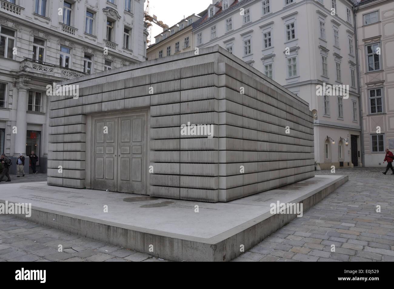 Judenplatz Holocaust Memorial, Vienna. Stock Photo