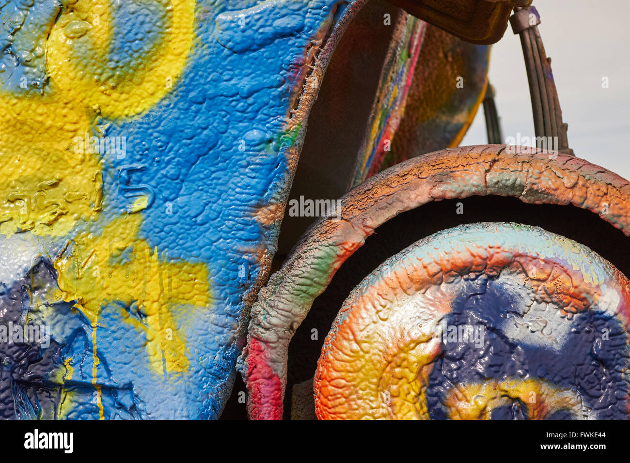 Cadillac Ranch, Amarillo, Texas, USA Stock Photo