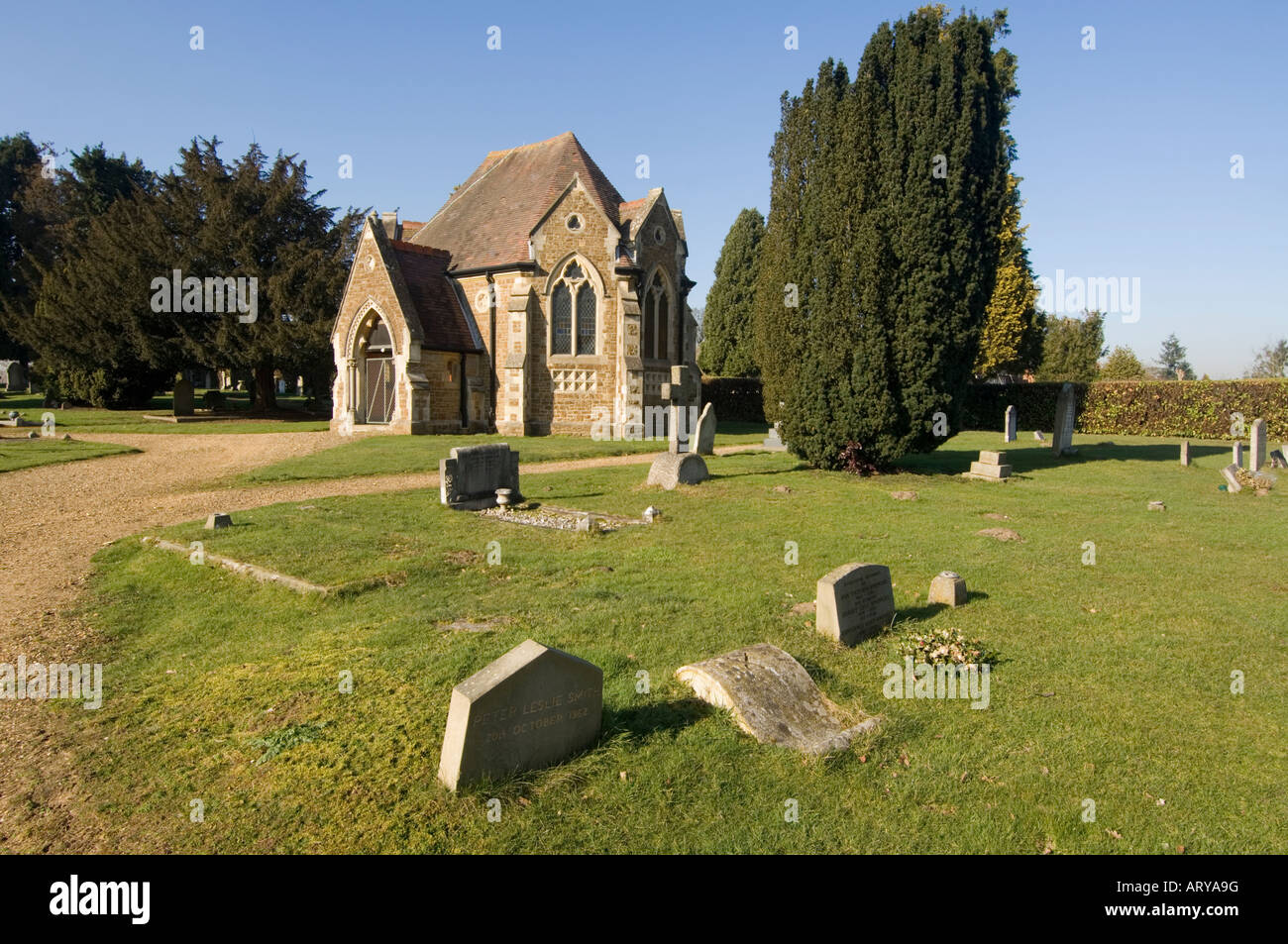 church-and-churchyard-shalford-surrey-uk