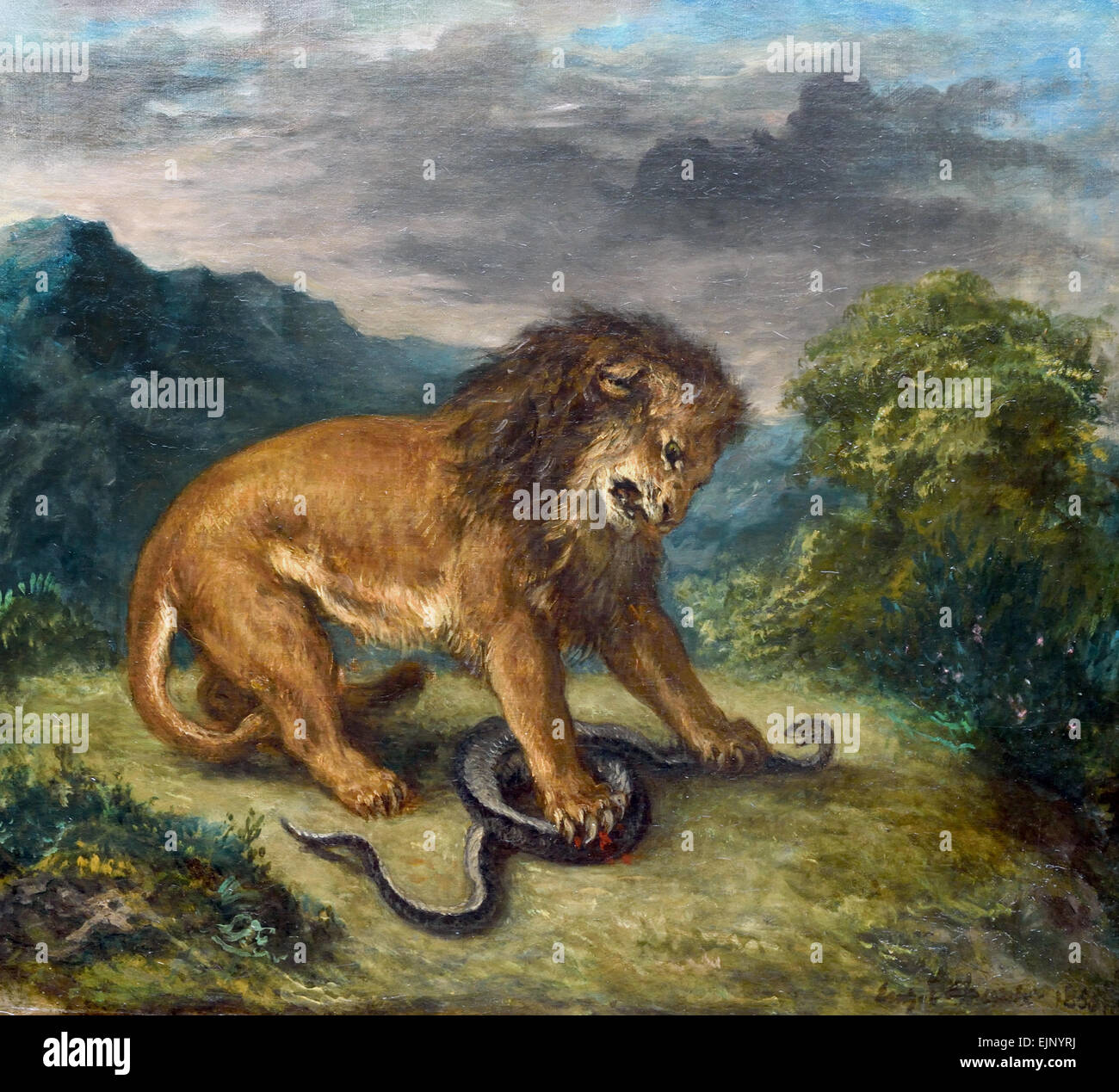 le-lion-et-le-serpent-1856-the-lion-and-