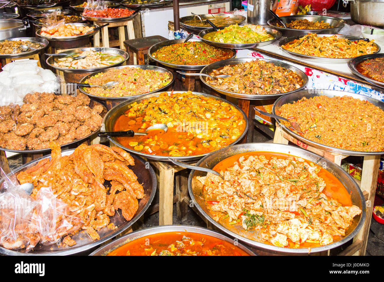 assorted-thai-food-on-platters-on-a-stre