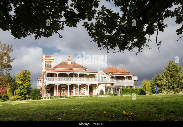 Langford Homestead. Edwardian mansion at Walcha NSW Australia - Stock Image