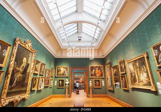England, London, Trafalgar Square, National Portrait Gallery, Gallery View - Stock Image