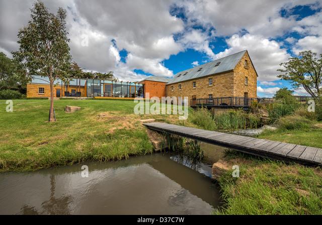 The historic Nant whisky distillery near Bothwell Tasmania - Stock Image